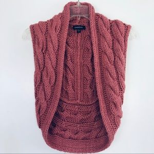 BEAUTIFUL BEBE KNIT BOLERO VEST IN GUAVA PINK